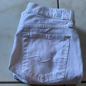7 for all mankind White ankle Gwenevere jeans